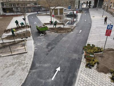 Озелењавање дворишта Скупштине Града